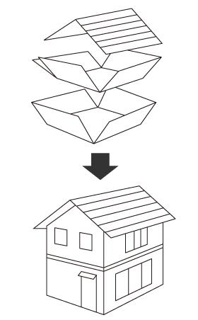 壁全体で支える2×4(ツーバイフォー)工法