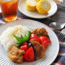 チキンと夏野菜のカレー南蛮丼