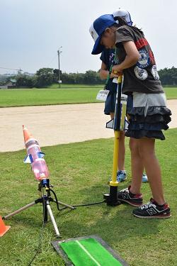 水ロケット大会1