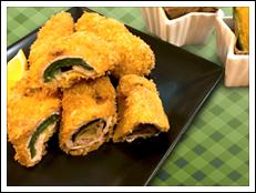 夏野菜のサクサク肉巻フライ