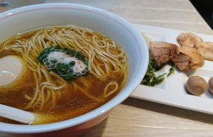 サイフォンで抽出したスープが珍しいラーメン