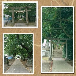 前玉神社、境内への参道