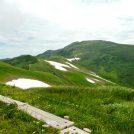 姥ケ岳山頂からの月山