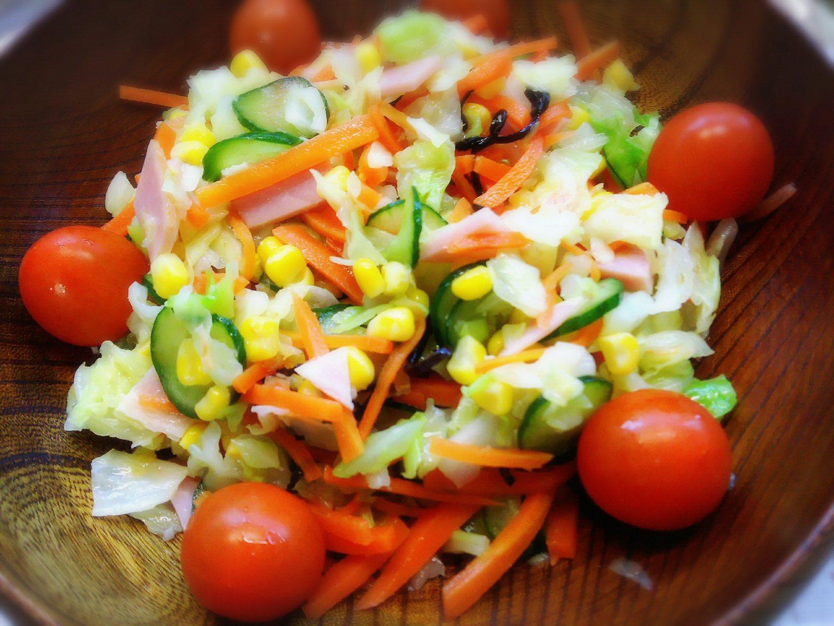 小1国語「サラダでげんき」の「りっちゃんサラダ」をお家で作ろう☆