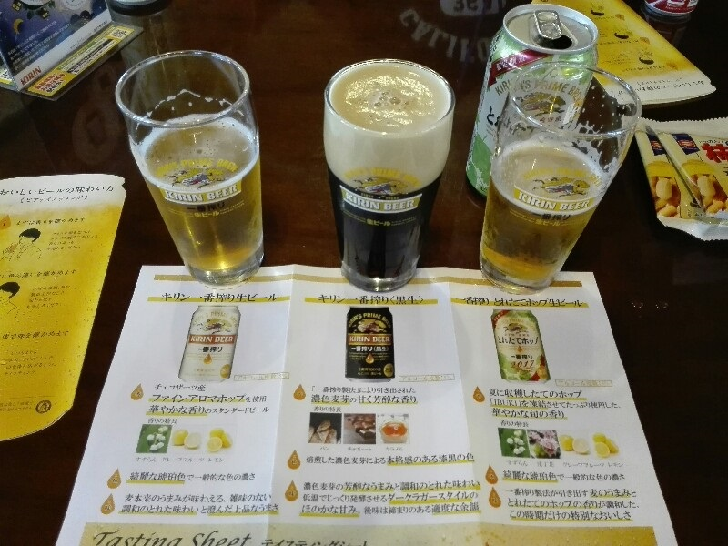 出来立ての生ビールが無料で飲めますよ。