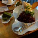 「神宗 淀屋橋本店」の塩昆布の煮汁ソフトクリーム!ほどよい甘さがイイ!