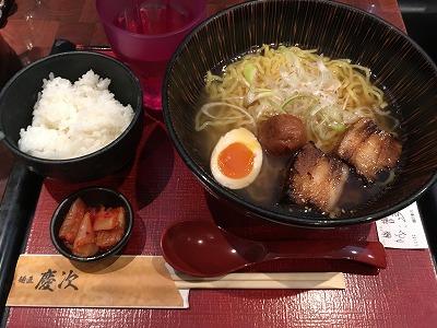 OBPで大行列のウマいラーメン店「麺匠 慶次」!正午までご飯無料