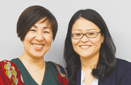 松前葉子さん、東一恵さん