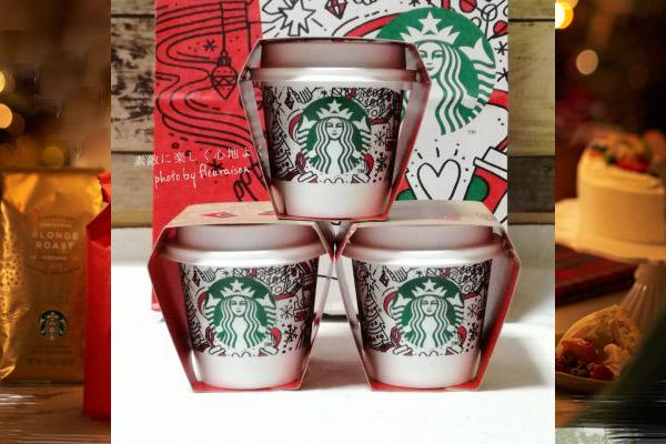 【スタバプリン】クリスマス柄がキュート♡三種の茶葉香るミルクティープリン