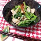 『春菊と豚肉のガーリック炒め』カンタン時短レシピでおかずを1品プラス