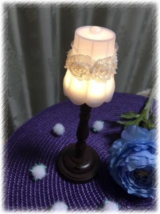 【簡単可愛い♡】ダイソーのアンティーク調ランプが自分好みに変身!