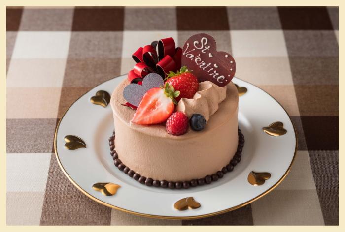 ヴァレンタインチョコレートショートケーキ