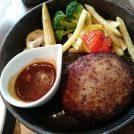 「箕面リスカフェ」のハンバーグステーキと充実のサラダバーに大満足☆