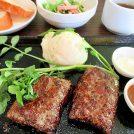 牛100%ハンバーグ&ステーキvacaバッカ、夜は390円均一@浦和