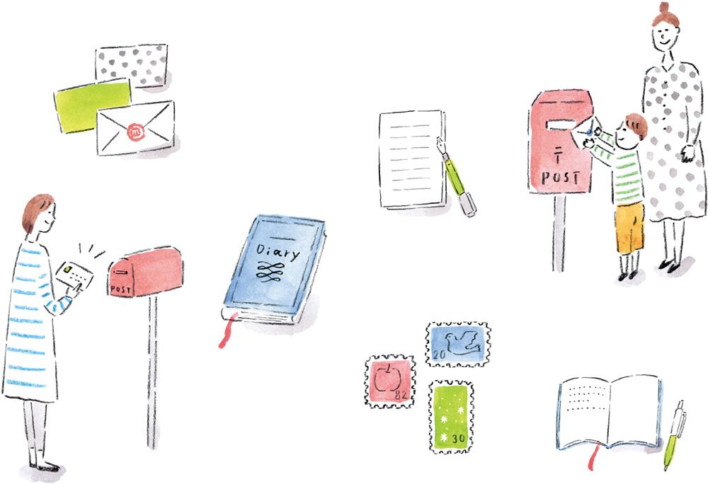 書いてみませんか? 手紙と日記