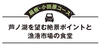 箱根・小田原コース  芦ノ湖を望む絶景ポイントと漁港市場の食堂