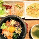 「韓美膳(ハンビジェ)」で食べる1000円の石焼ビビンバランチ@金山