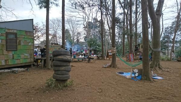 まるで秘密基地!四街道プレーパークどんぐりの森。3月10日はもりまつり