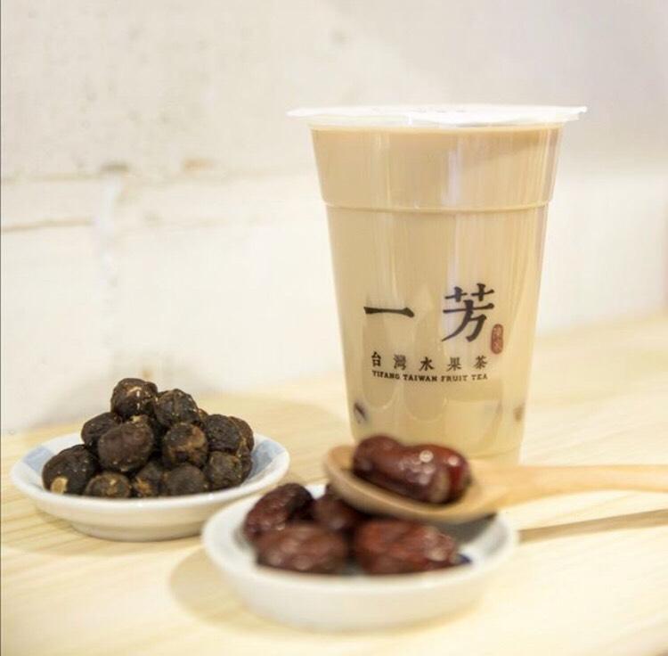 一芳(イーファン)台湾水果茶・日本限定「龍眼ミルクティー」