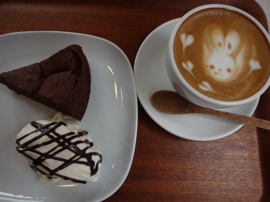 チョコケーキ&ラテ