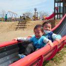 【名取市】ぴゅーっとすべる長い滑り台が楽しすぎ!十三塚公園。お花見も♪