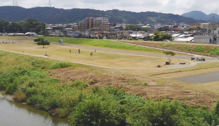 自然たっぷり大阪柏原市大和川親水公園