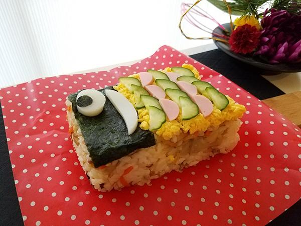こどもの日は、ご馳走に「鯉のぼりの形のお寿司」でお祝いしませんか