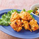鶏むね肉の紅ショウガ唐揚げ タケノコと小松菜のオイスターソース炒め
