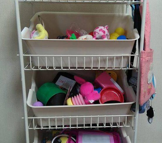 ズボラの大掃除(大整理)③人気おもちゃ箱風の収納ラックを1500円以下で!