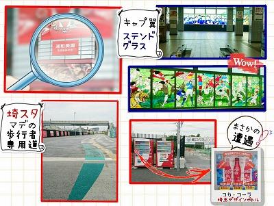 浦和美園駅→埼スタへの歩行者専用道路
