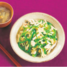 鶏むね肉の塩チンジャオ あさり缶と大根のスープ