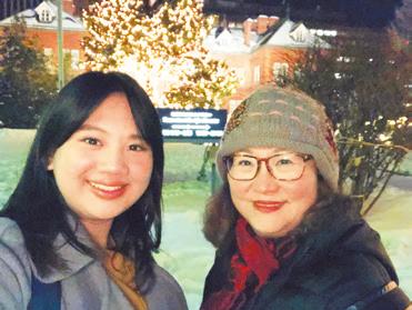 毎冬、大学生の娘さんと一緒に札幌のイルミネーションを楽しんでいます