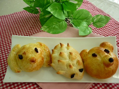 親子で作るかわいいどうぶつパン