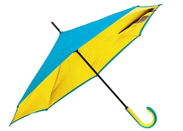 小田急セレクション 逆さに閉じて雨粒を内側に 手を濡らさずにたためる傘