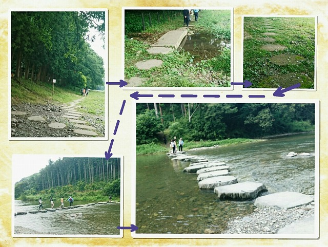 槻川河川敷の石畳