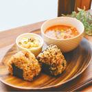 おいしく食べて体を温める、酵素玄米のおむすびとスープ ぽかぽか温活カフェ ハラペコリンコ