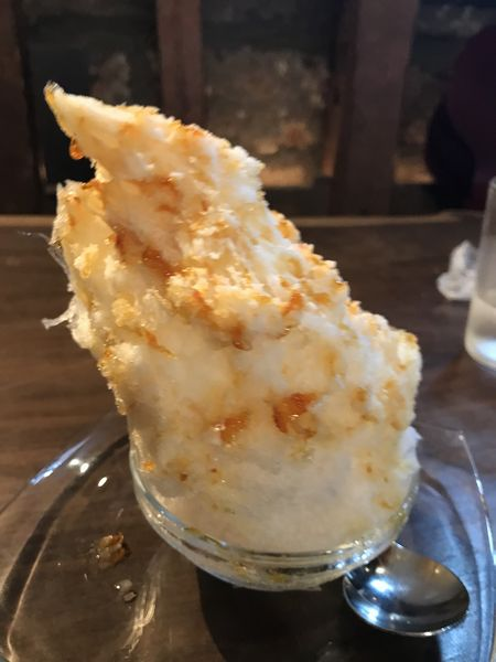 塩キャラメルハーフかき氷