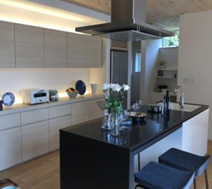 家の中心にある理想のキッチン