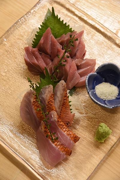 柏駅東口、魚浜(さかな)で豊富なメニューから旬の魚とレトロビール、こだわりの日本酒を
