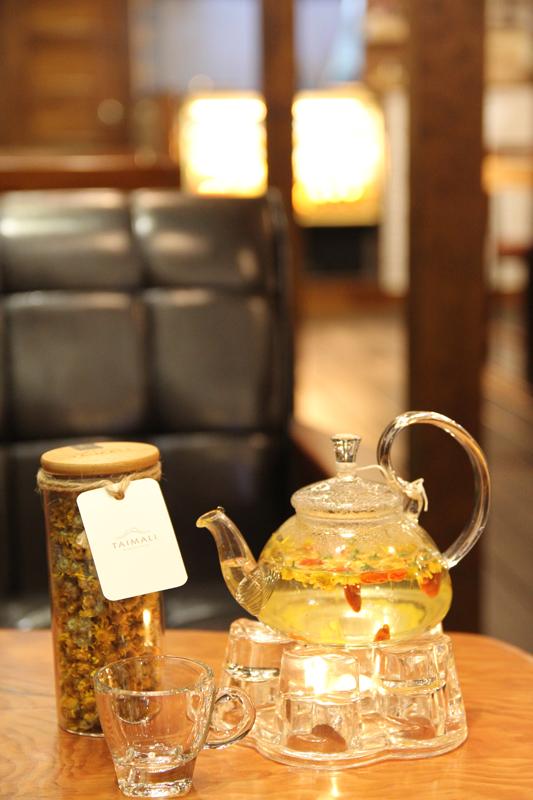 台湾台東市・TAIMALI太麻里珈琲館の小油菊茶