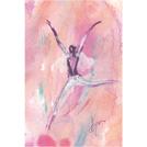 函館出身のイラストレーターによる、宙に舞う瞬間を表した躍動感のある絵画展