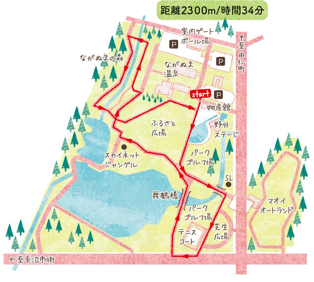 長沼町コミュニティ公園しっかり歩くコース