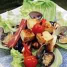 VOL.81 夏野菜と豆富・ベーコン・貝のそろい踏み川床見立て
