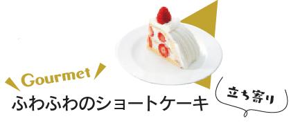 ふわふわのショートケーキ