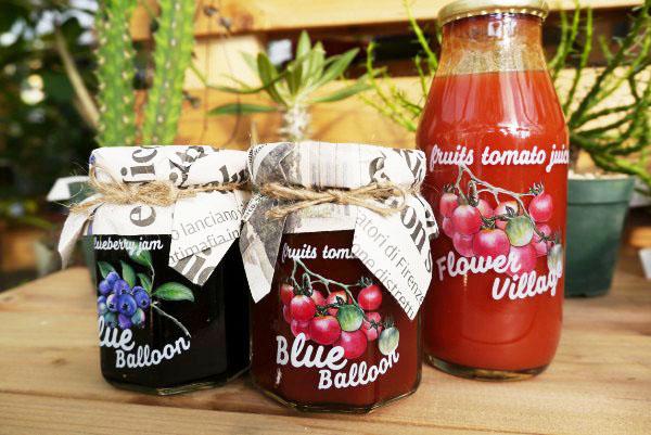 素材100%!素敵な花屋で買える、とっておきのジャムとトマトジュース♪