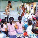アジア文化を体験するお祭り「AHIオープンハウス」。アジア料理が並び、サリー着付け体験なども
