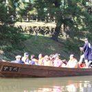 綾瀬川の川面から草加松原の景色を、9/16(日)「和舟の舟行」