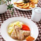 冬キャベツと鶏手羽元のトロトロ煮 ニンニク味噌