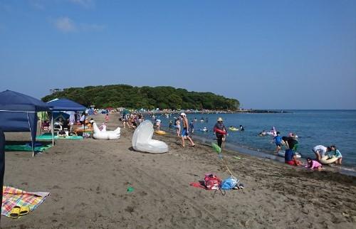 千葉のおススメ海水浴場@沖ノ島海水浴場