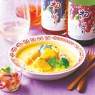 かぼちゃの味噌クリームシチュー イカとパプリカのマリネ